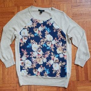 J Crew Merino Wool Silk Panel Sweater